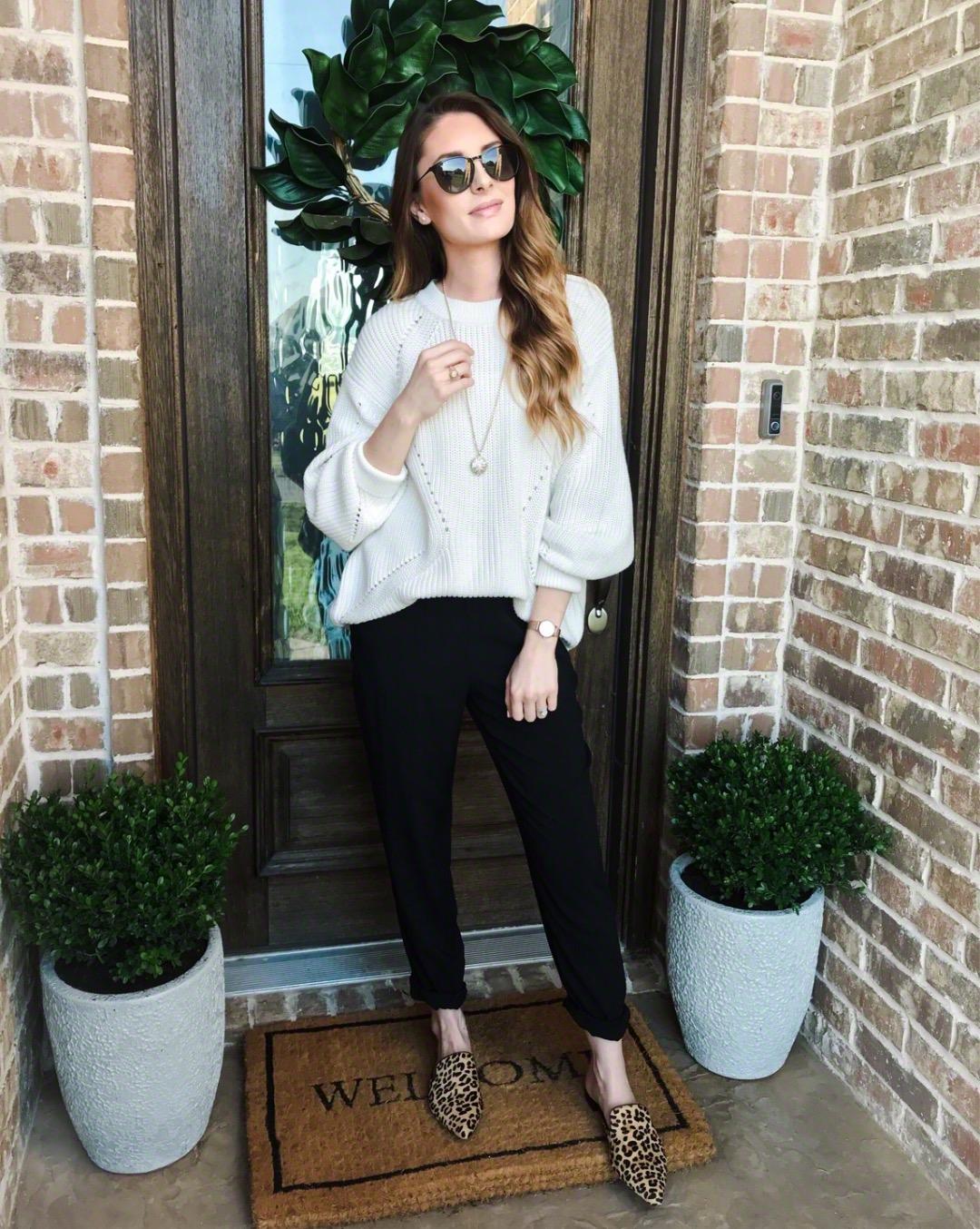 White Sweater + Joggers - Megan Kristine Blog