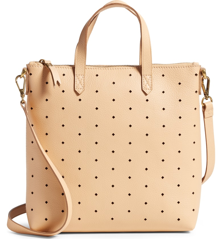 Madewell Mini Transport Perforated Leather Crossbody Bag - SALE: $109.90 (after sale: $168)