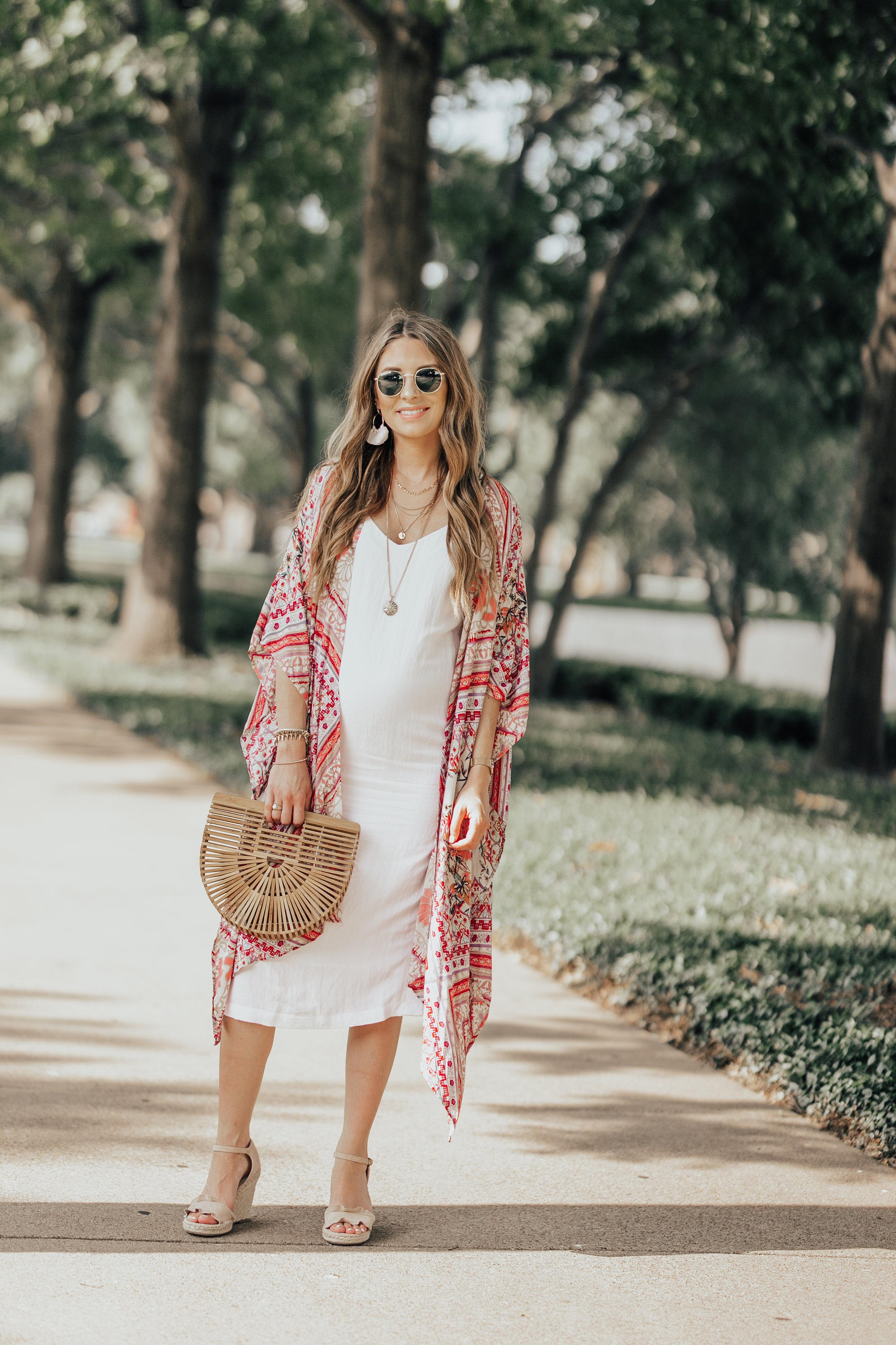 White Dress + Kimono