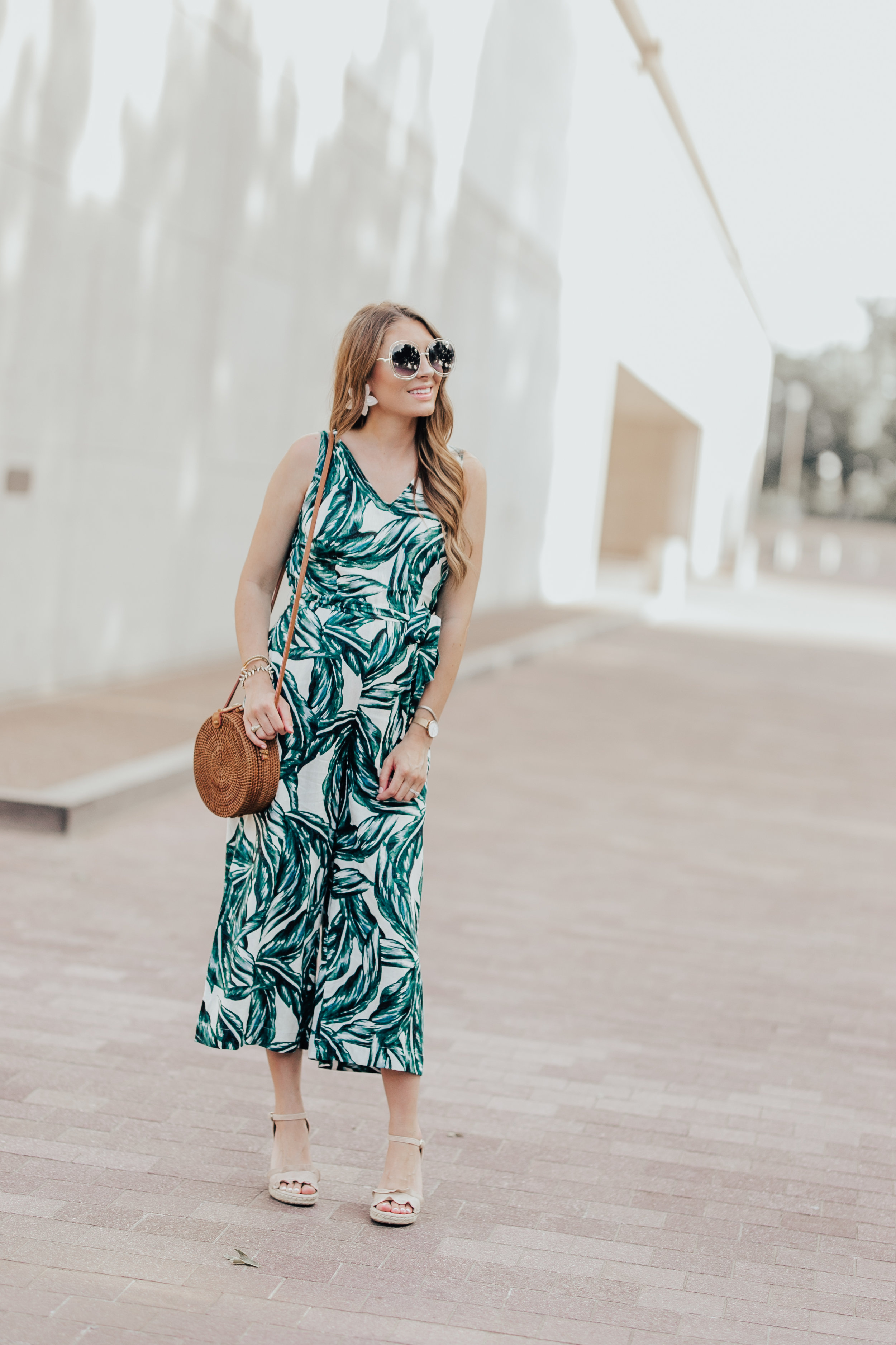 Palm Print Jumpsuit