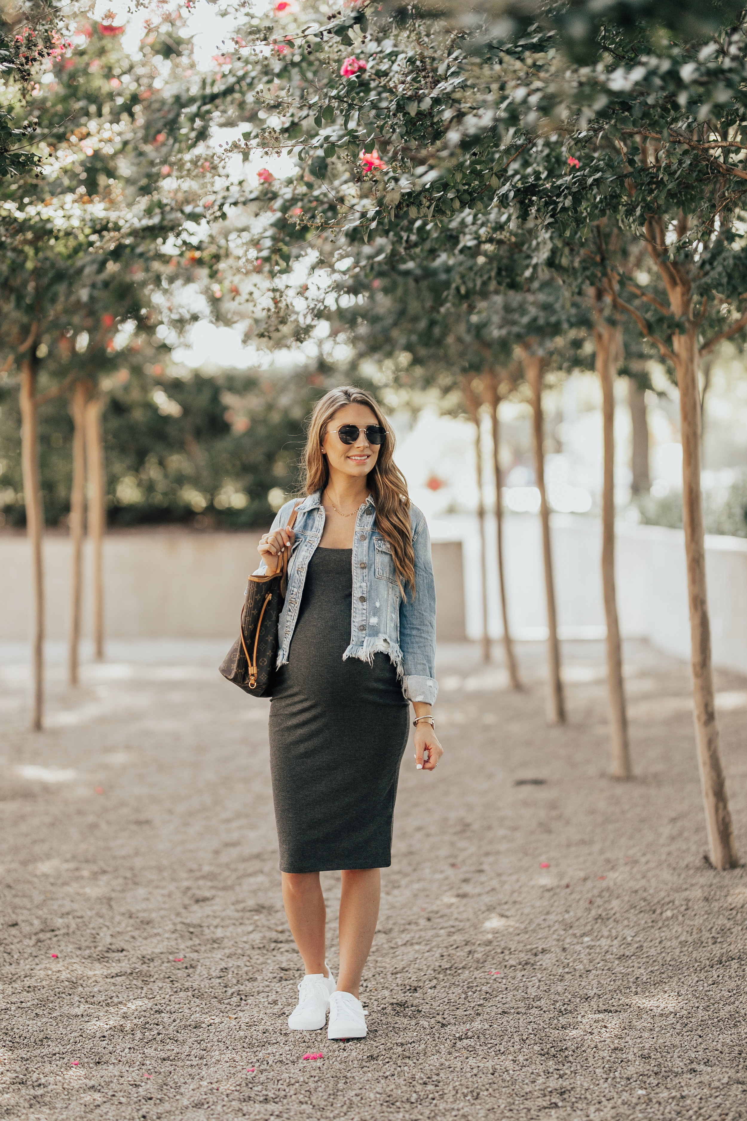 Denim Jacket + Bodycon Dress