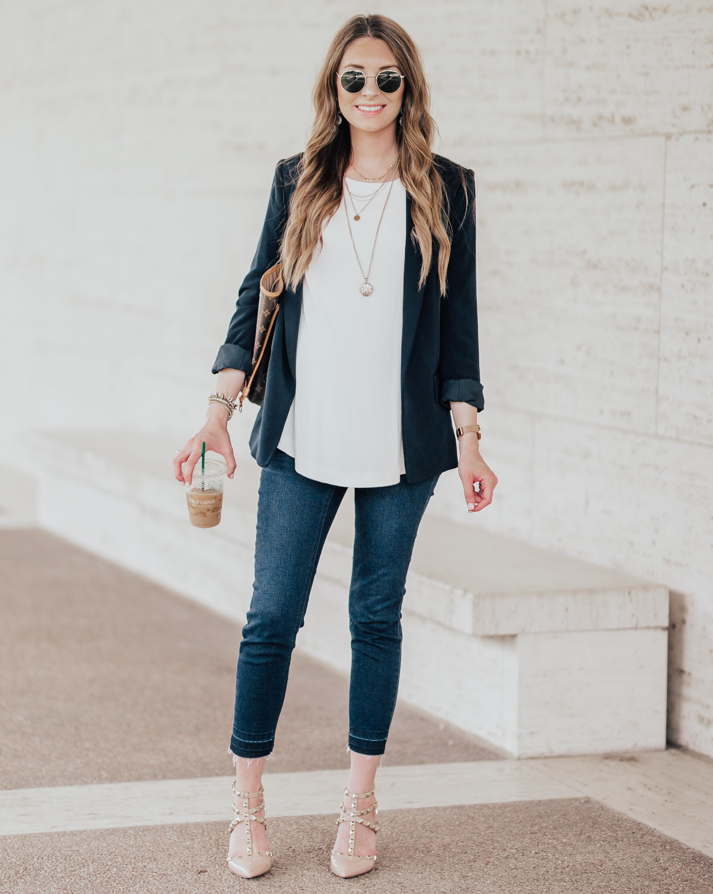 Skinny Crop Jeans - This pair of jeans got me through my entire pregnancy. Wearing an xs & they're currently on sale for $24!!!
