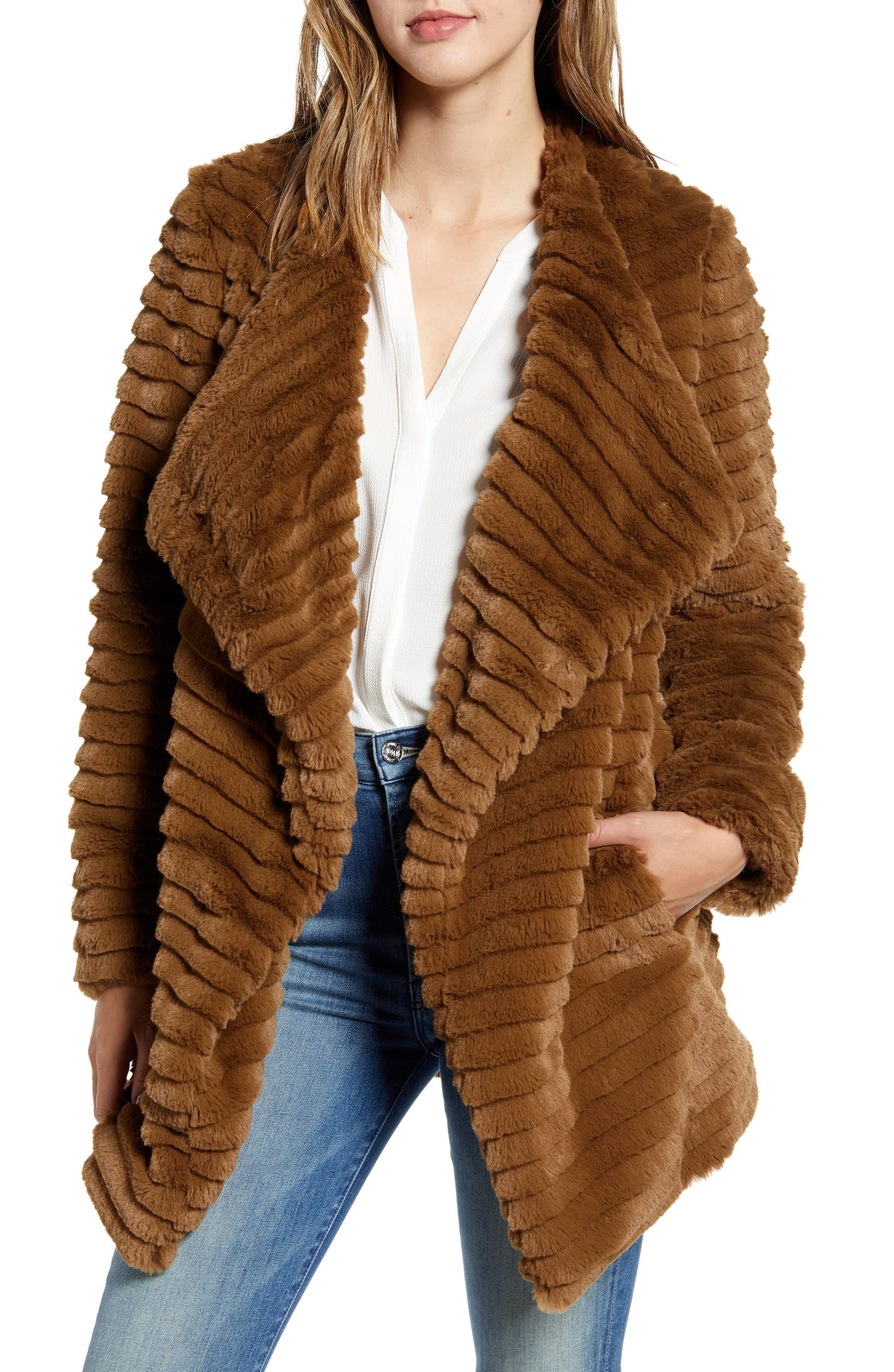Faux Fur Coat - SALE: $89.90, after sale $138