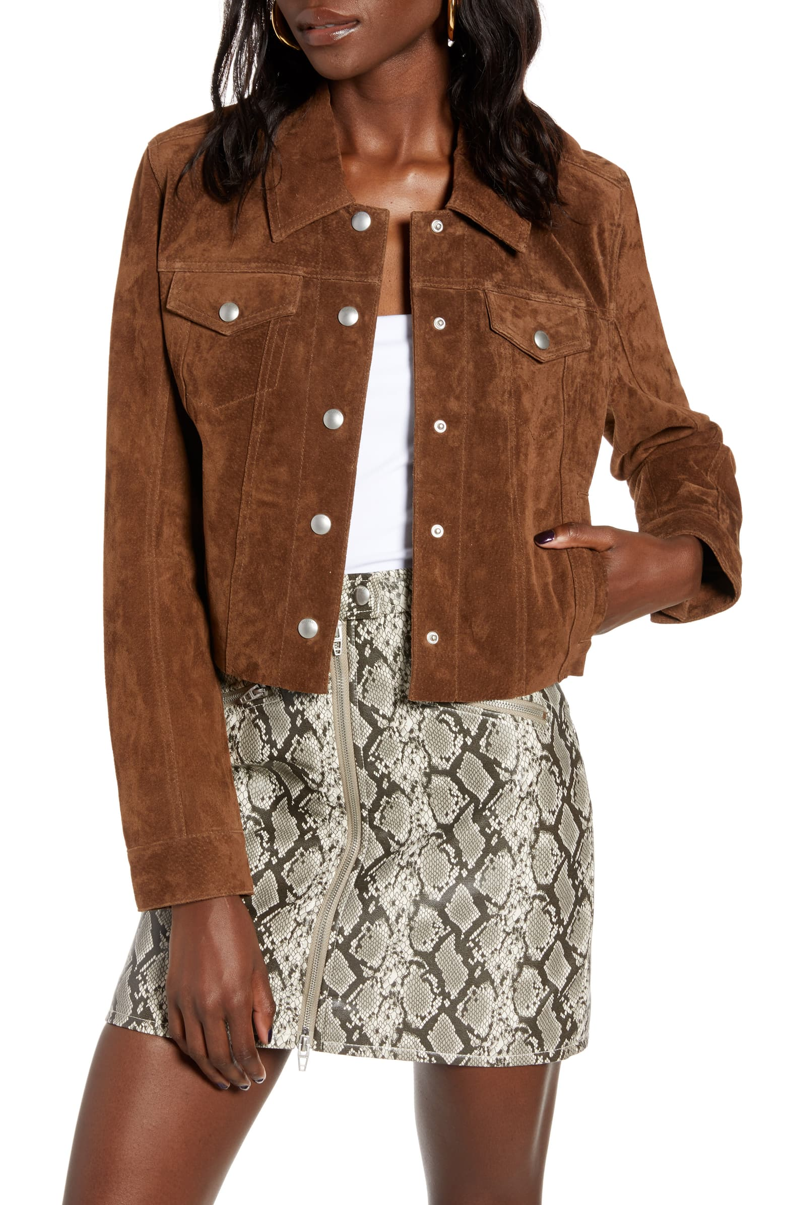 Crop Suede Jacket - SALE: $118.90, after sale: $178