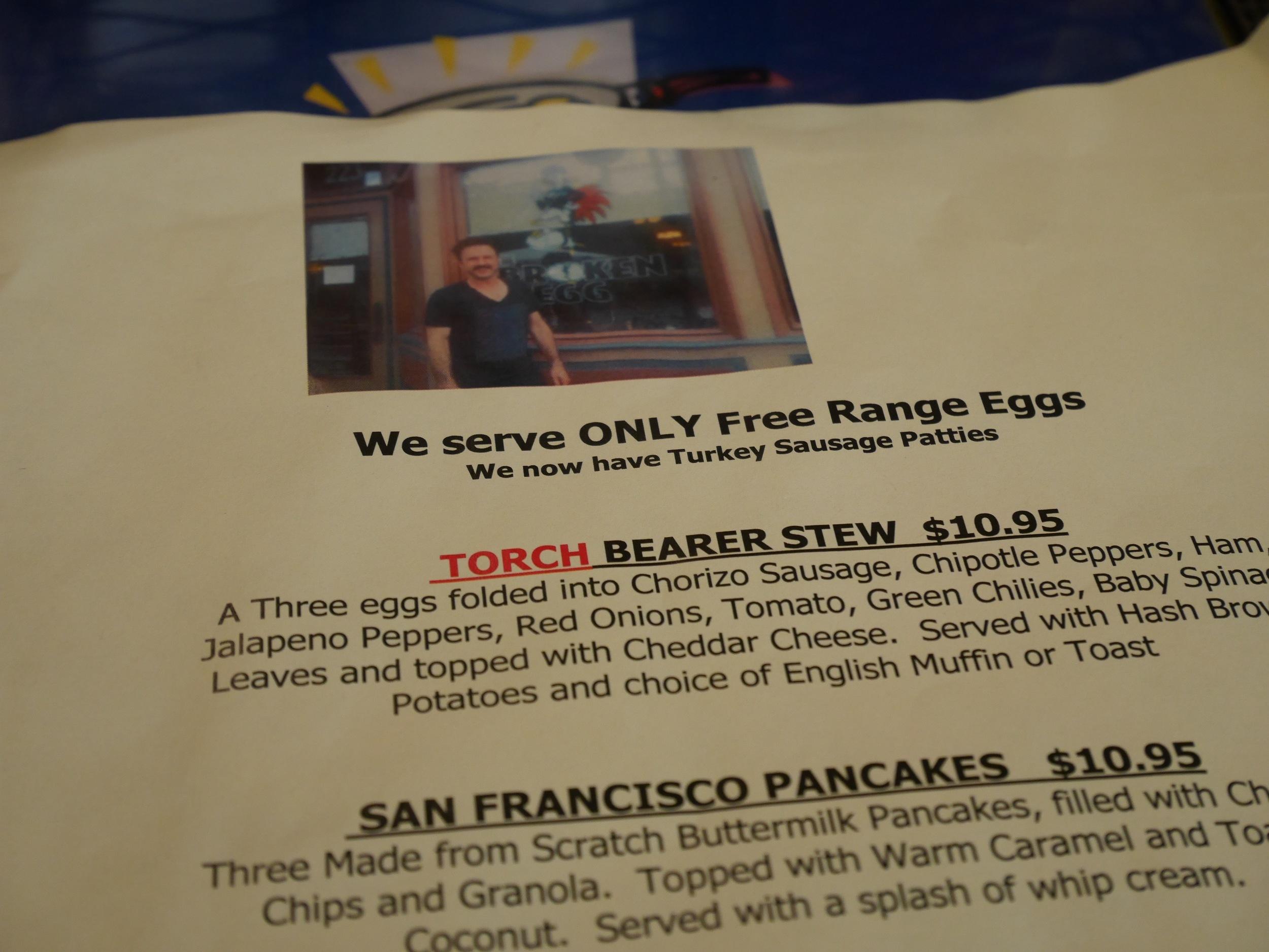Random photo of David Arquette on The Broken Egg specials menu - get the classic eggs, bacon, english muffin breakfast