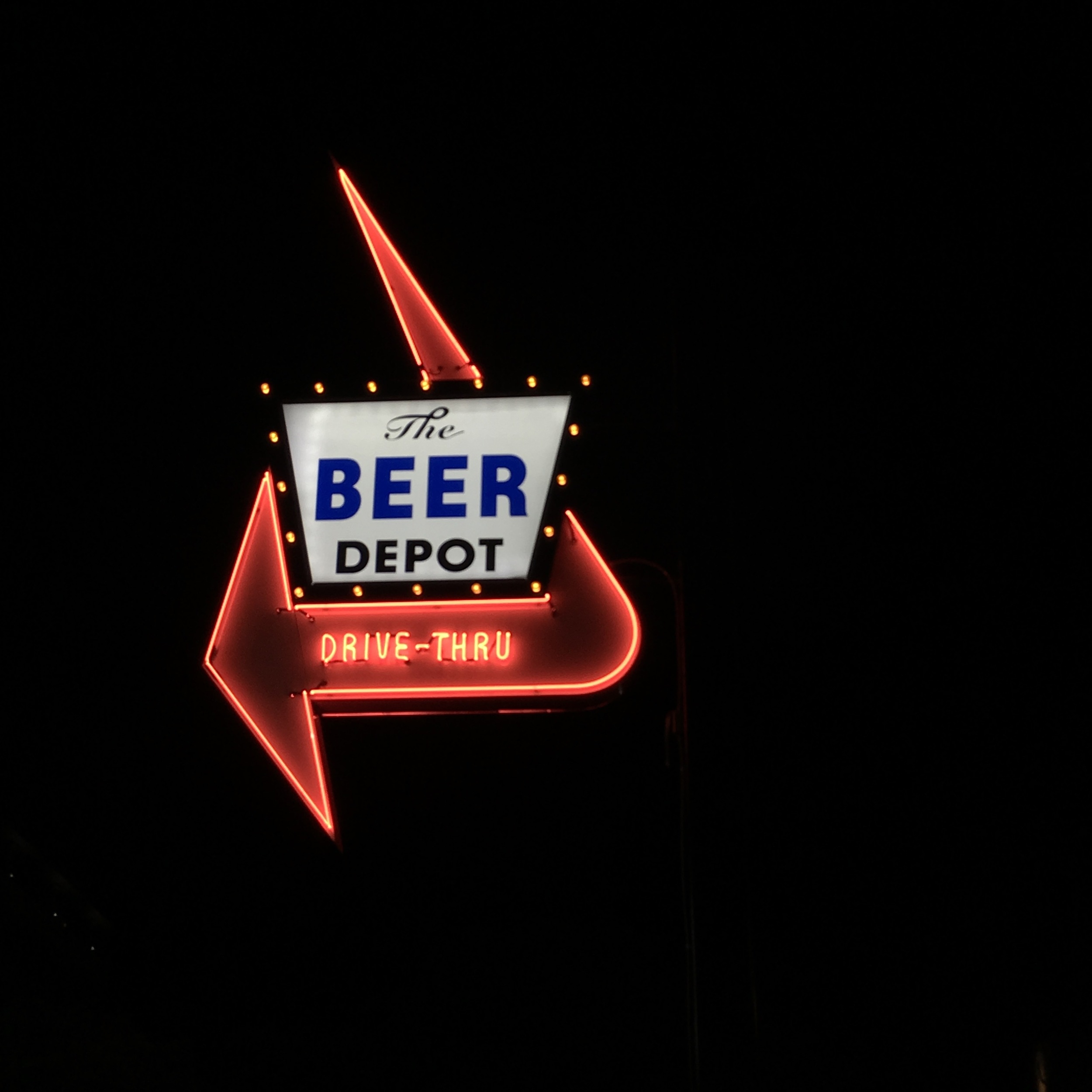 The Beer Depot. How great is this sign?