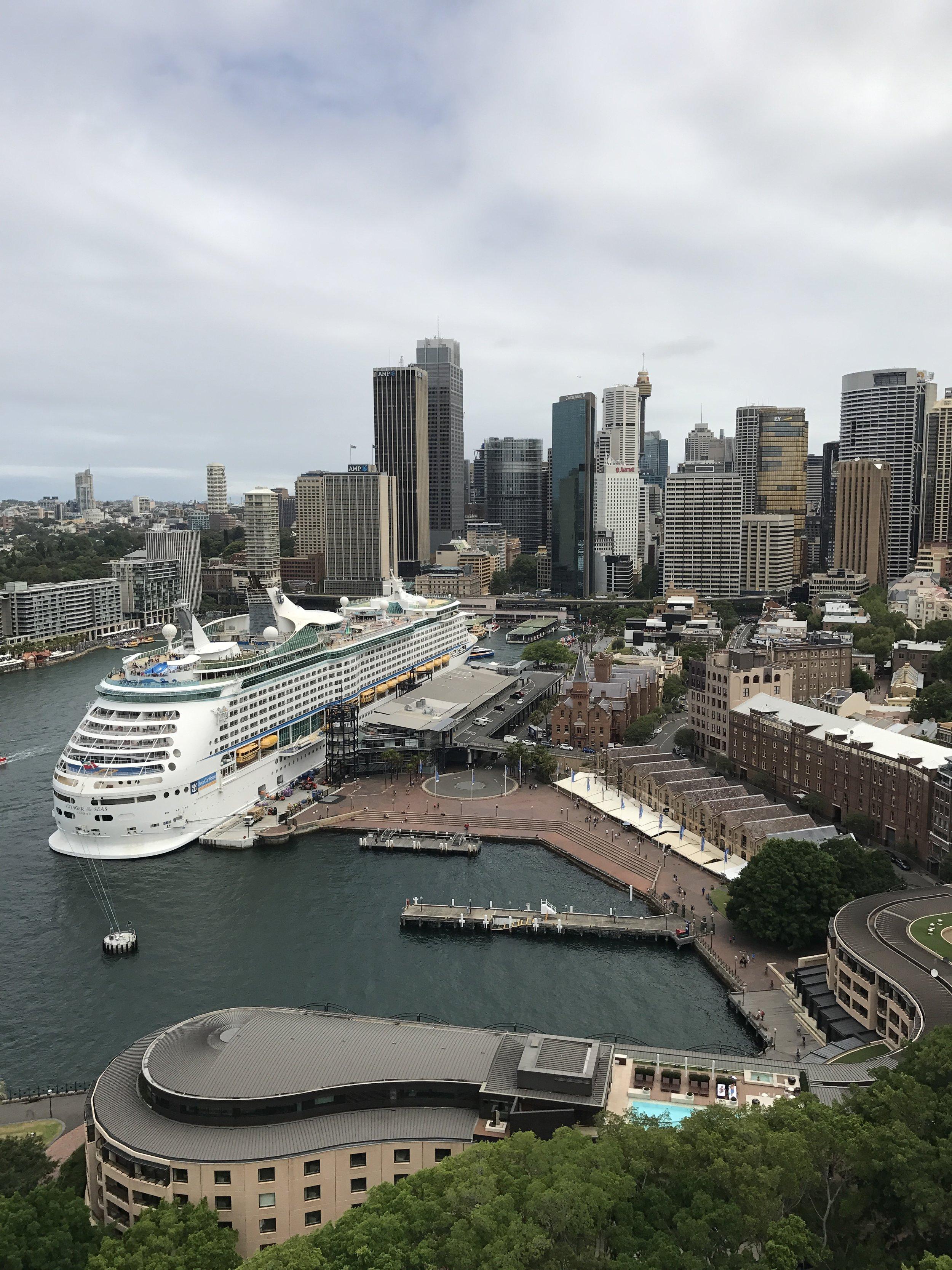 Circular Quay from the Sydney Harbour bridge