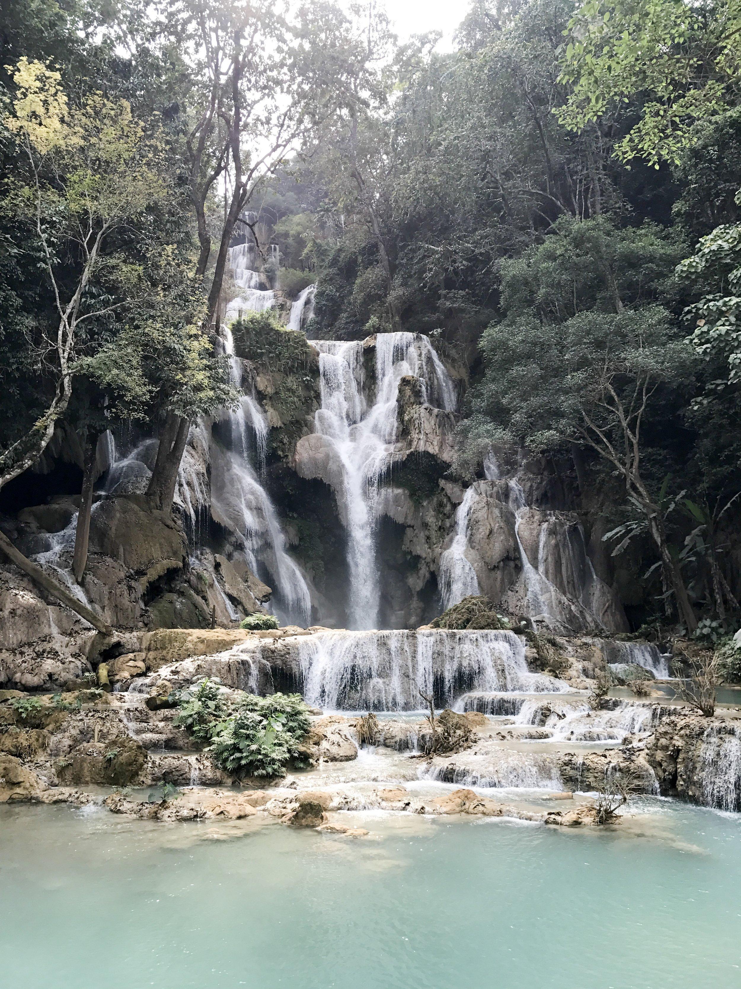 Kuang Si Waterfall, Laos - after