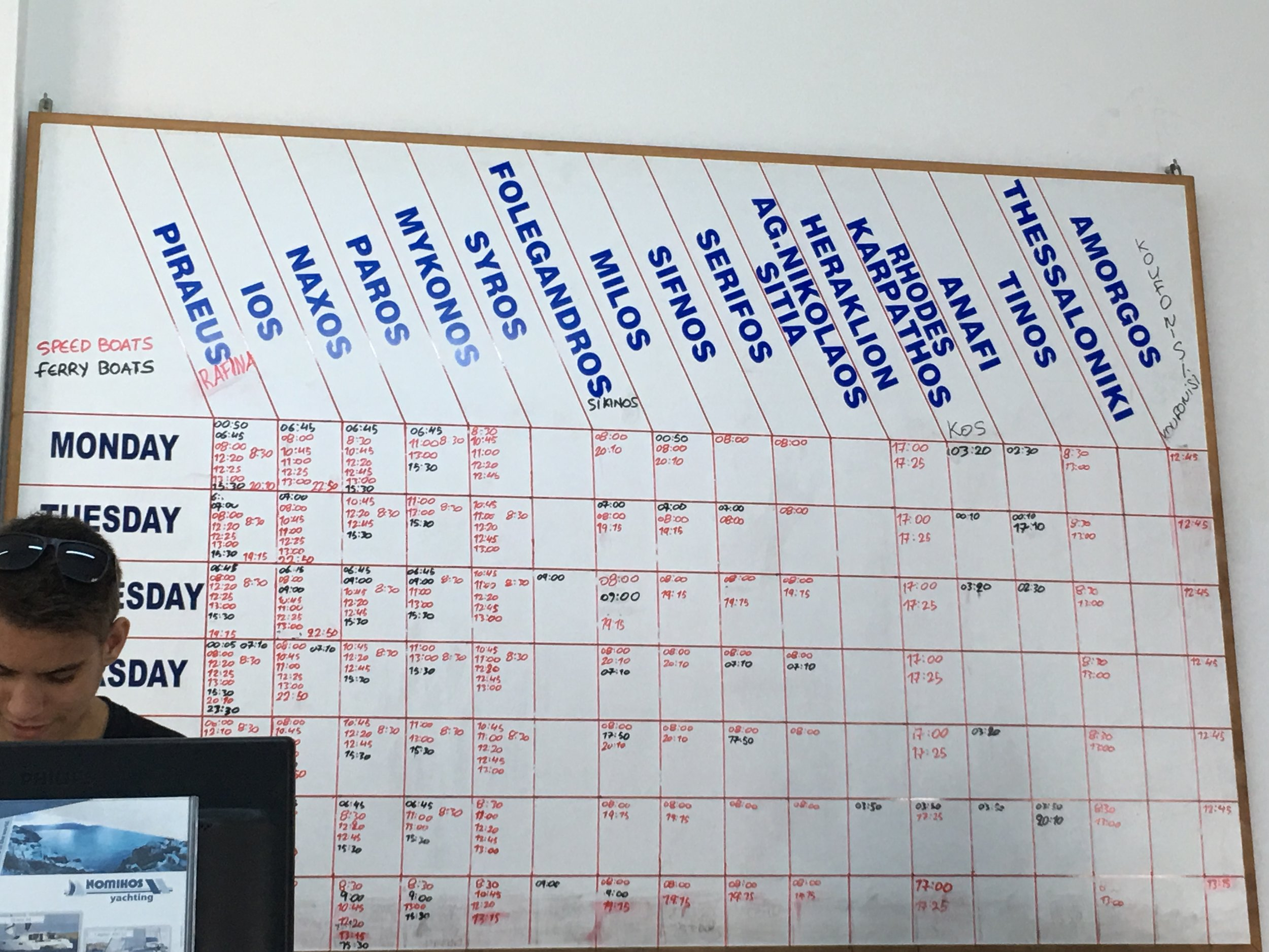 Ferry boat schedule