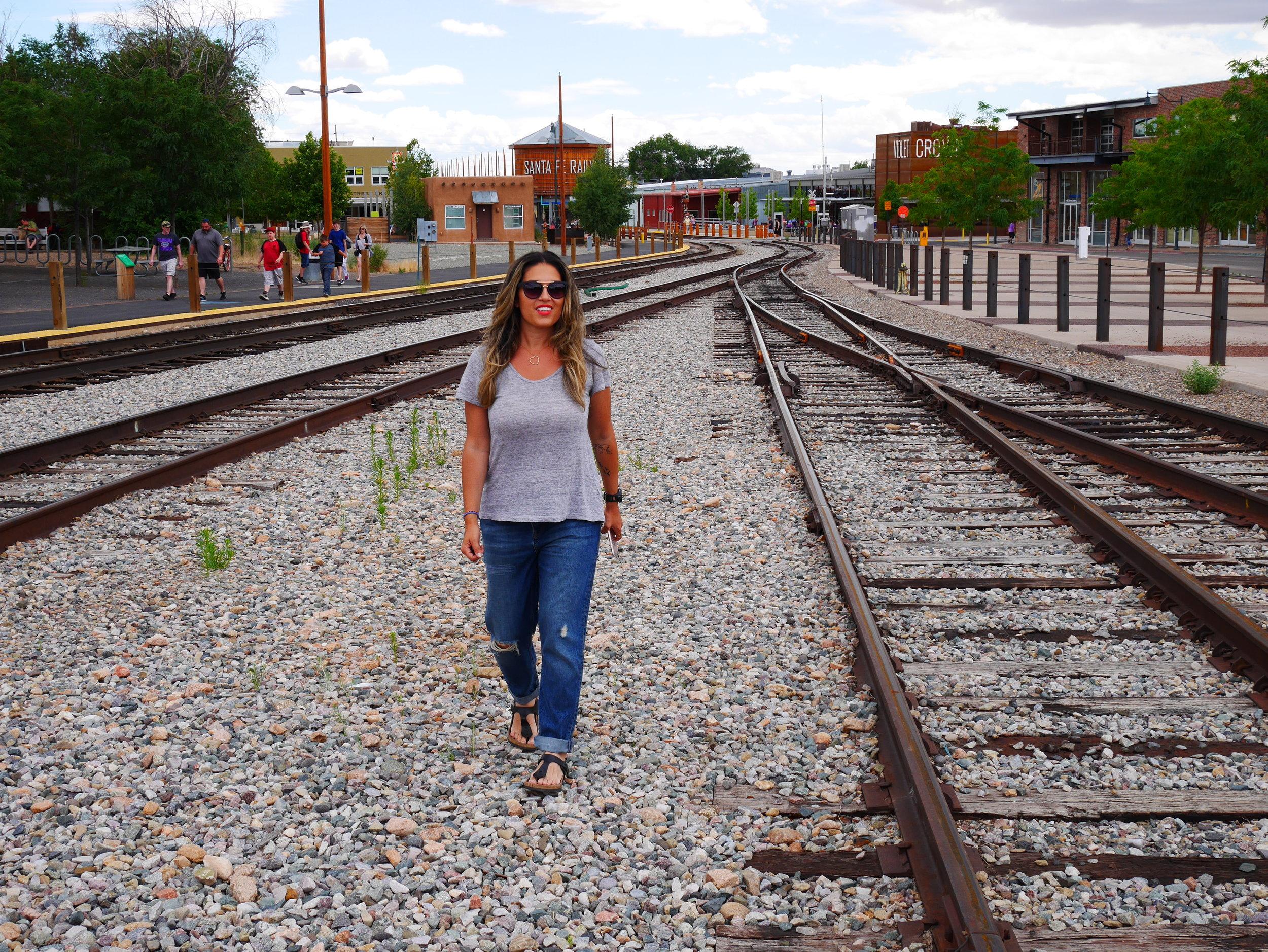 walking around the railyard