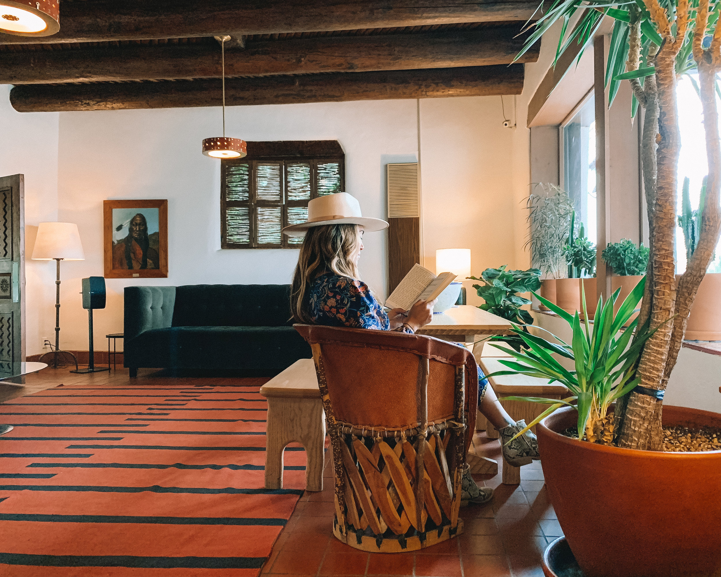 take time for some leisurely reading in an El Rey Court common space