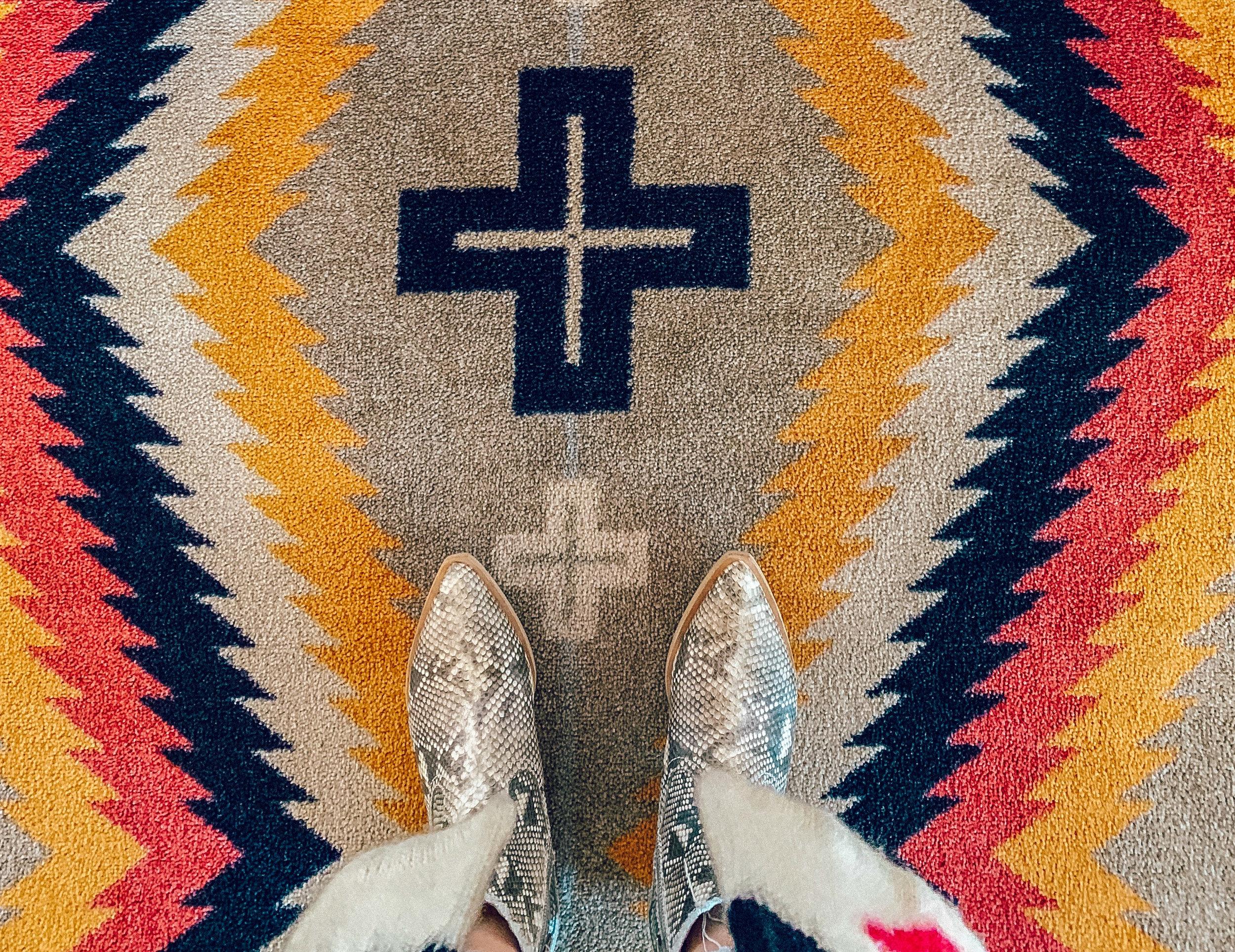 Knight Mills rug - Room 3 - up close