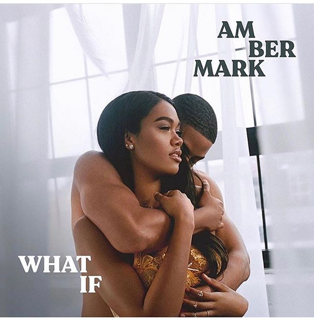 """Congratulations to @instagramber on her new single coming out """"What If""""! Wearing beautiful @lakaiserjewelry rings and earrings. SWIPE FOR MORE. Cover styled by @roderickhawthorne 😘. #ambermark #singer #artist #jewelry #gold #finejewelry"""