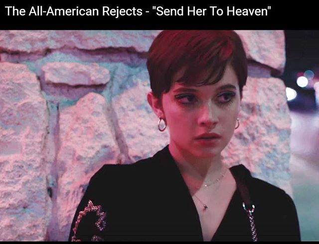 """The long awaited @therejects music video """"Send her to Heaven"""" featuring @caileespaeny. Necklaces by @iocollective styling by @joanneblackstylist 😘 SWIPE FOR MORE #allamericanrejects #musicvideo #caileespaeny #finejewelry #newmusic"""