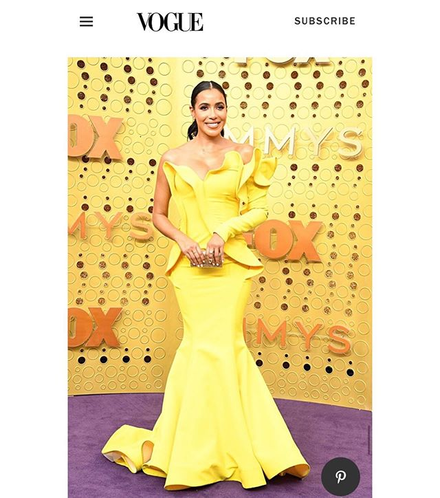 The gorgeous @officialjulissab wearing @genevievelaujewelry diamond ear climbers @televisionacad last night. Featured in @vogue SWIPE FOR MORE Styled by talented @styledbyjennyr 😘 #finejewelry #purplecarpet #emmys #vogue