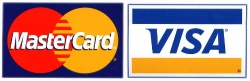 MasterCard and Visa accepted