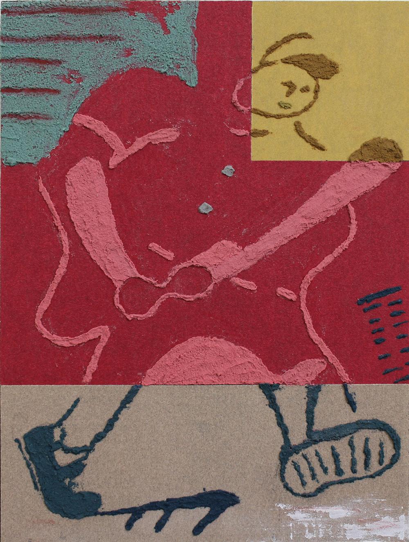 Sandpaper drawing 3