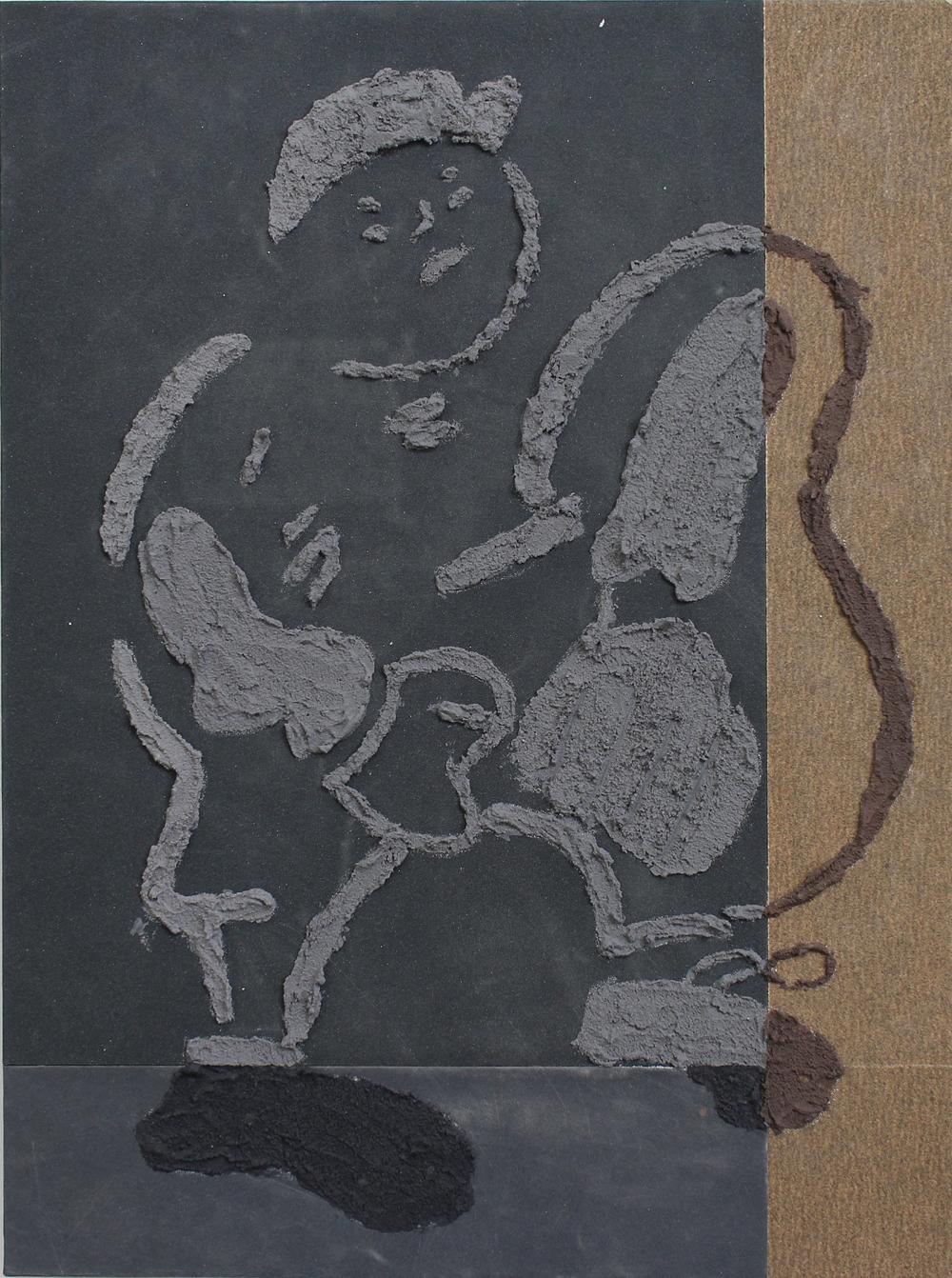 Sandpaper drawing 1