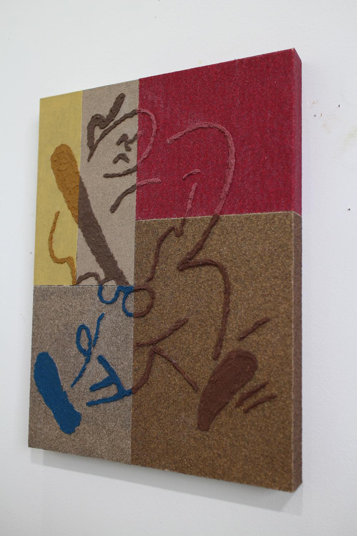 Sandpaper drawing (5)