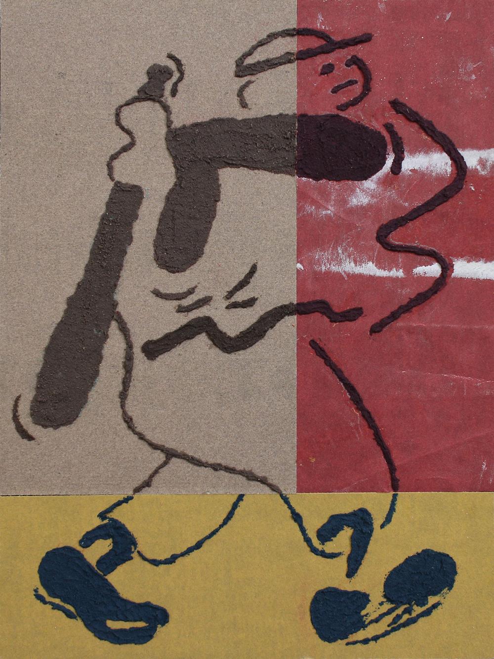 Sandpaper drawing (4)