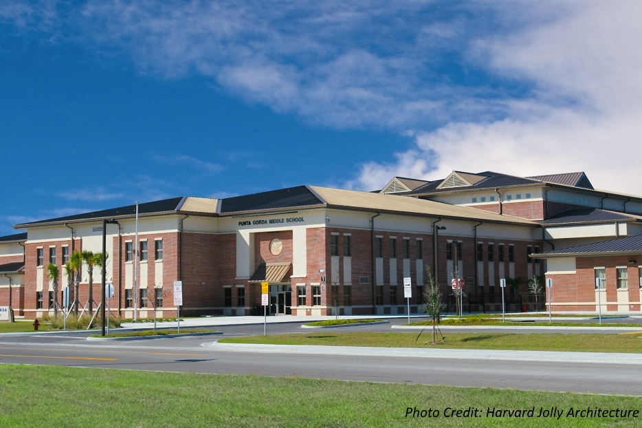 PUNTA GORDA MIDDLE SCHOOL Punta Gorda, FL   Charlotte County Public Schools Harvard Jolly Architecture