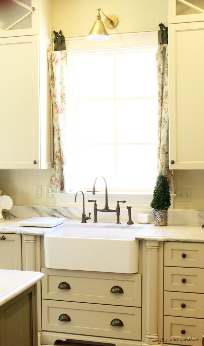 The one reason alone to get a one bowl, deep farmhouse sink:  There are dirty dishes in there right now....but you CAN''T SEE THEM!!  I know, it's a dream come true.