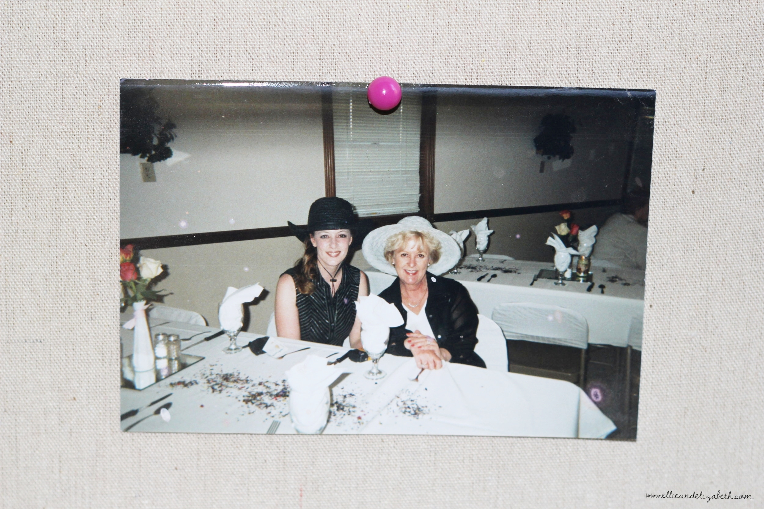 Mom and I at a Mother/Daughter Banquet several years back. I know, isn't she pretty?