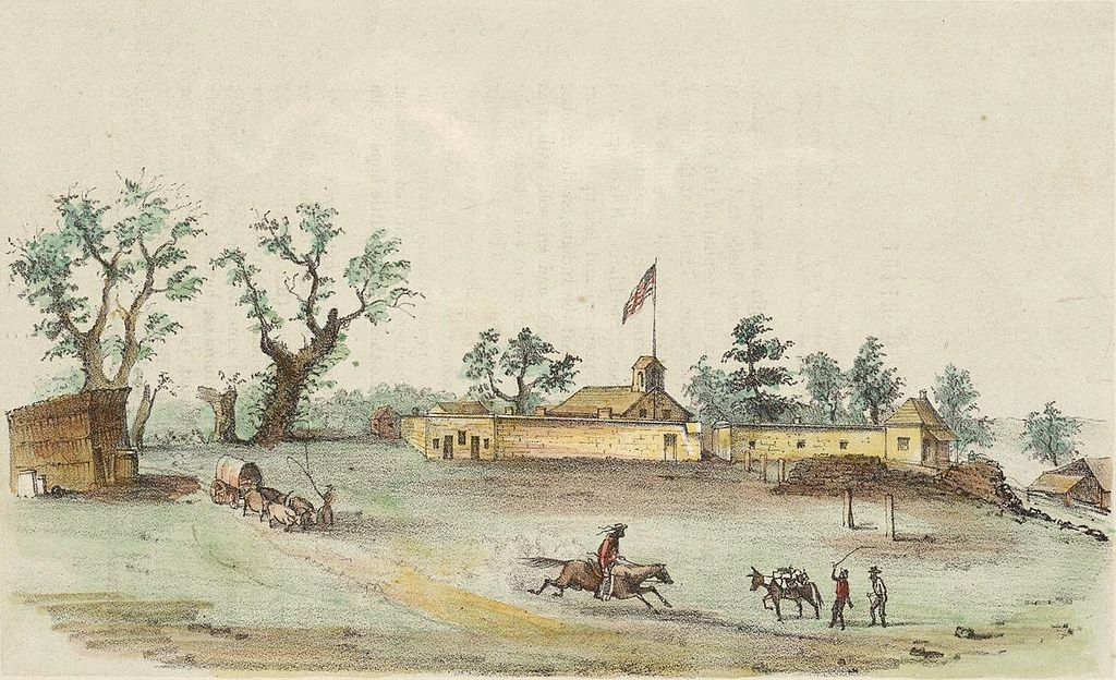 Sutters Fort, a mile from current site of STC