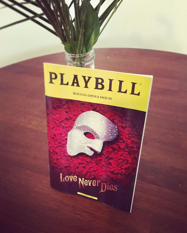"""Going to be humming """"Love Never Dies..."""" for a while 😍. Anyone seen the sequel to Phantom of the Opera yet?!"""