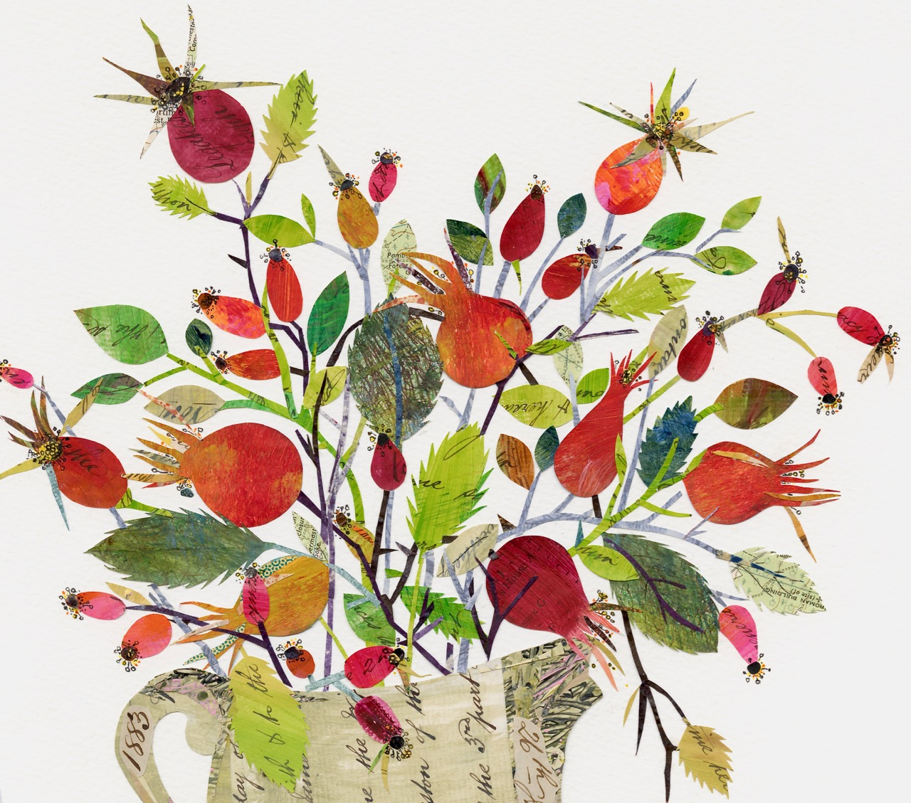 Rosehips in Vintage Jug 1