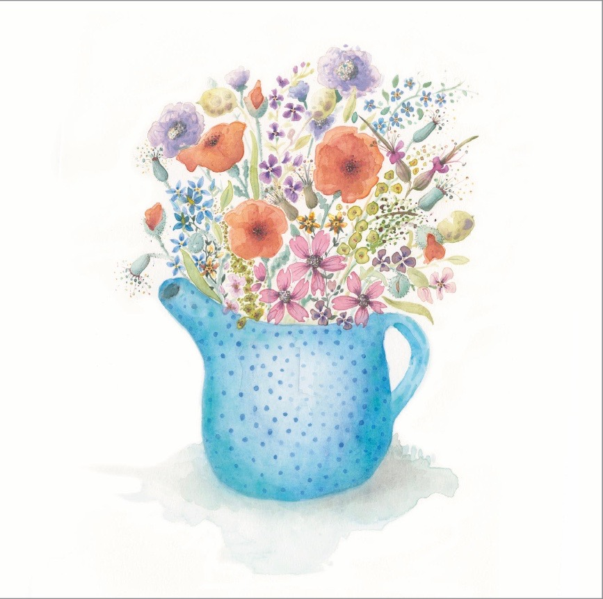Teapot Summer Flowers