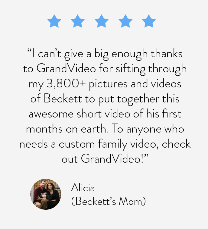 """To anyone who needs a custom family video, check out GrandVideo!"""