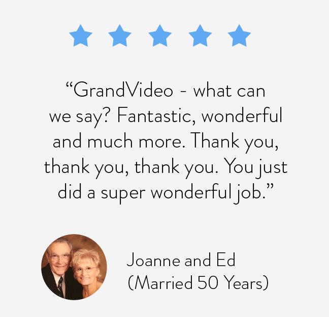 Grandvideo - what can we say? Fantastic, wonderful and much more. Thank you, thank you, thank you. You just did a super wonderful job.