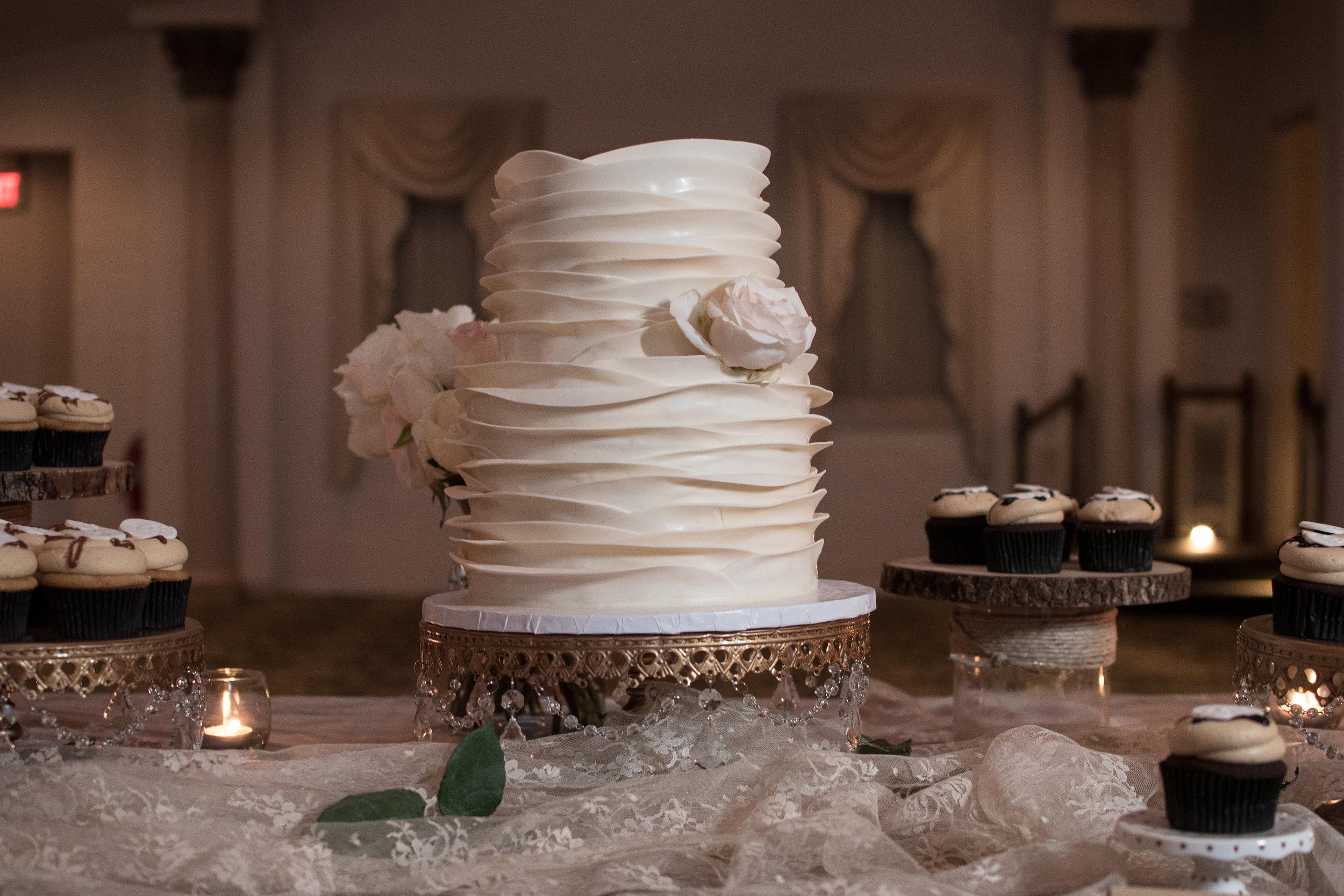 simple textured white wedding cake , Maryland
