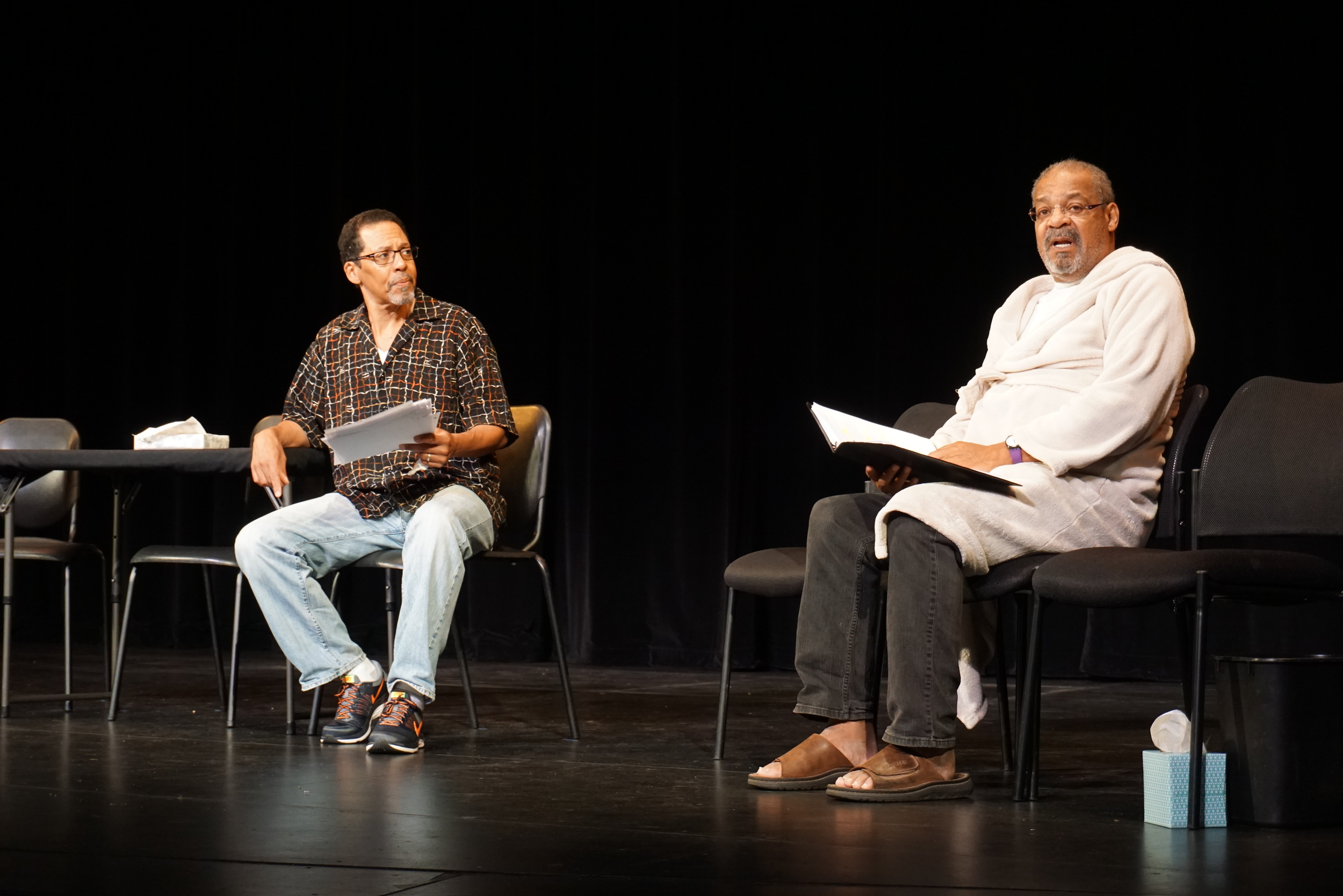 Some Old Black Man, by James Tyler (2015) with Peter Jay Fernandez and Roger Robinson. Photo by Tiffany Ding.