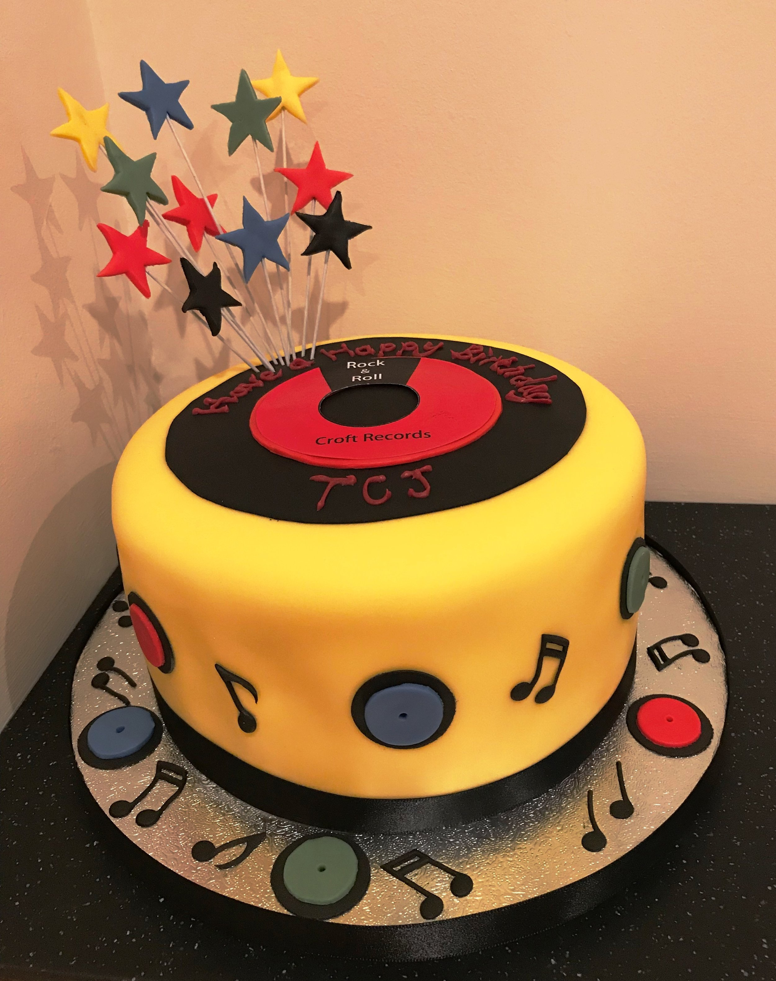 TCJ's music record cake!