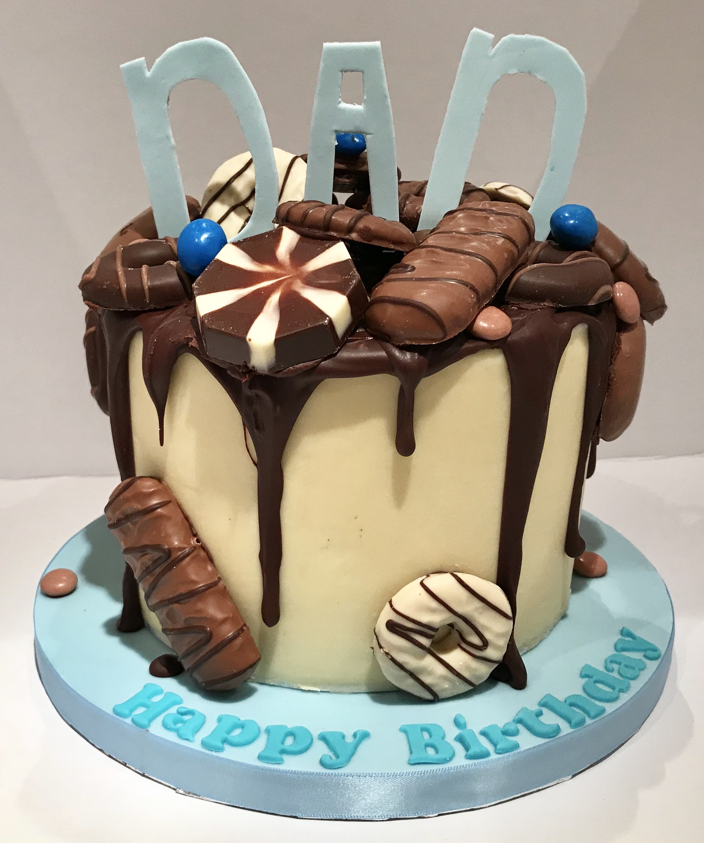 Chocolate ganache drip cake for all of the chocolaholic Dads!