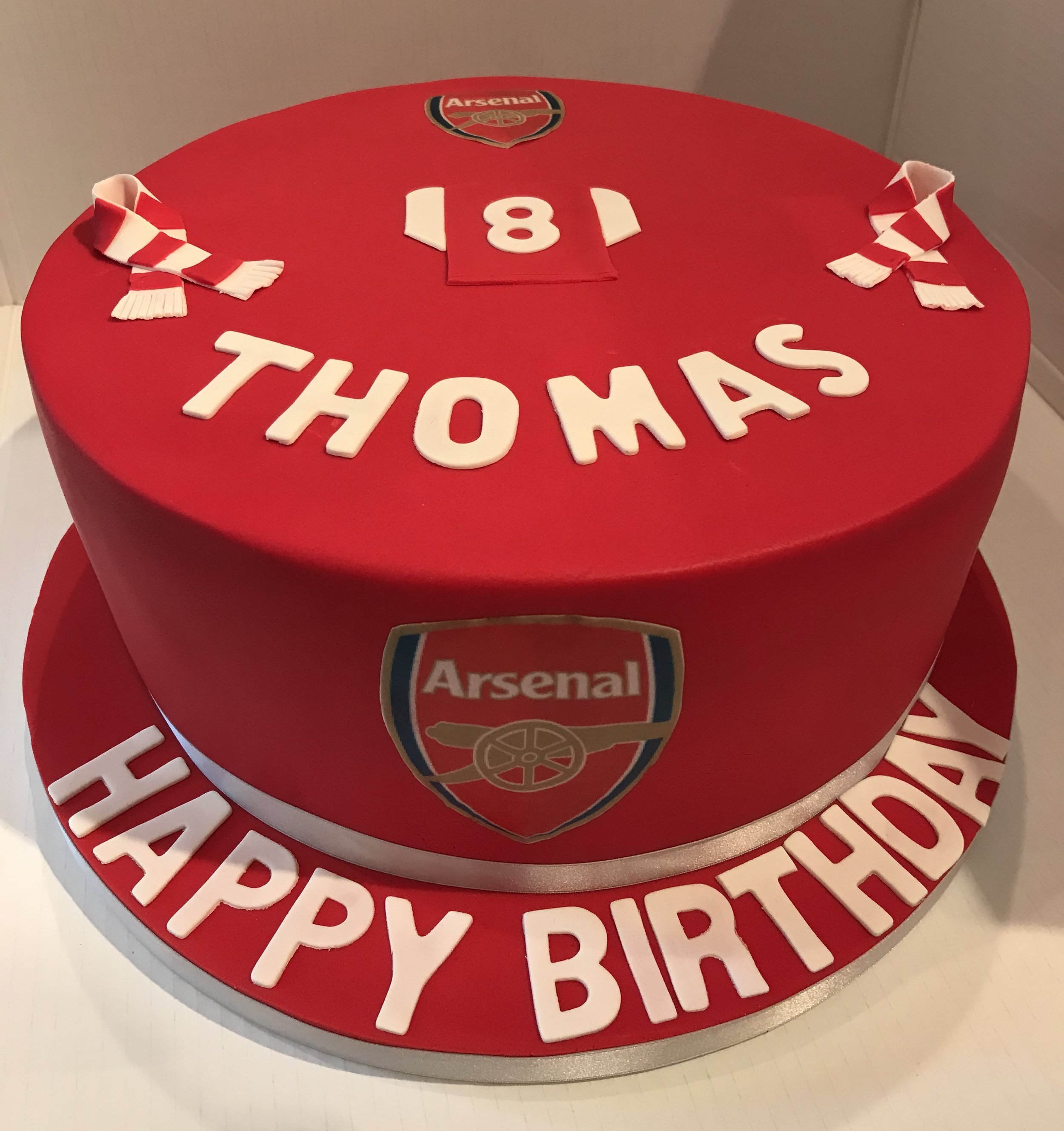 For Thomas, a great Arsenal fan!