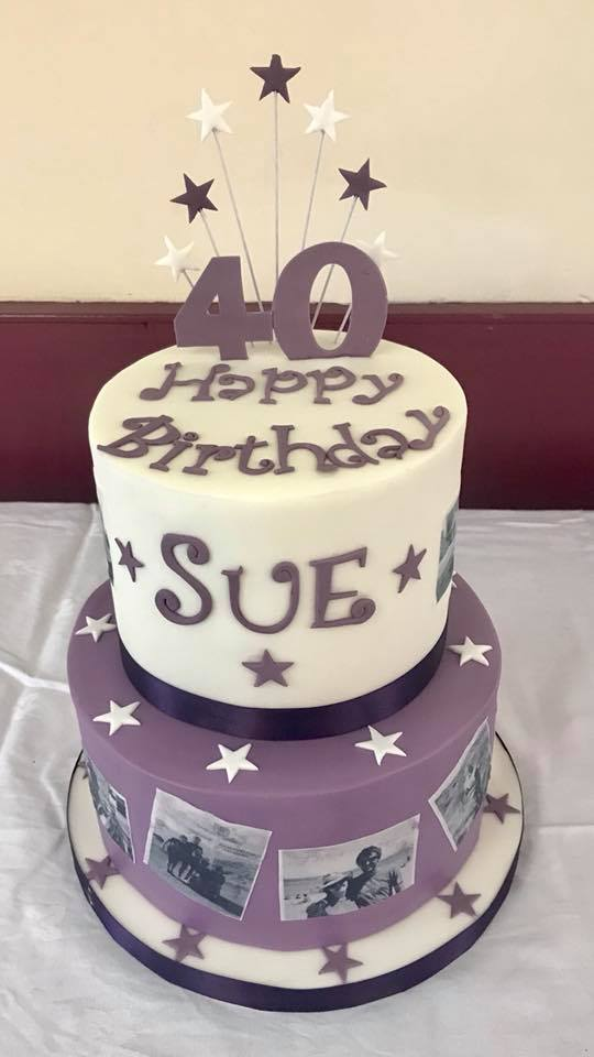 Personalised photo cake for Sue's 40th Birthday! From Yorkshire.