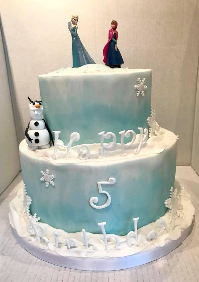 Frozen themed 5th birthday cake, near Coleford.