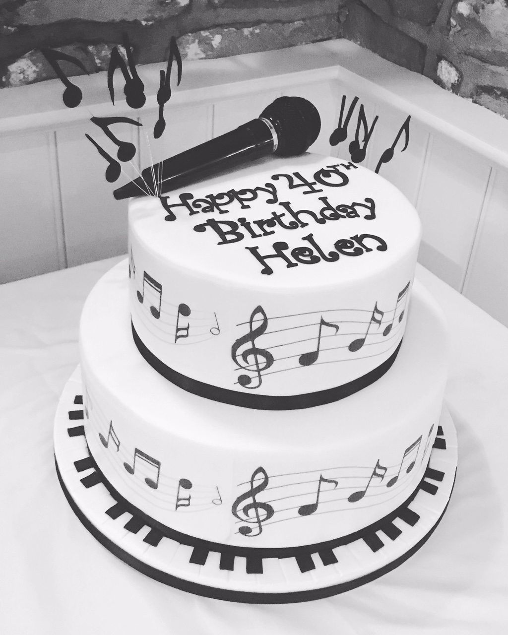 A surprise music cake for Helen! At The Woodman Inn, Parkend, Forest of Dean.