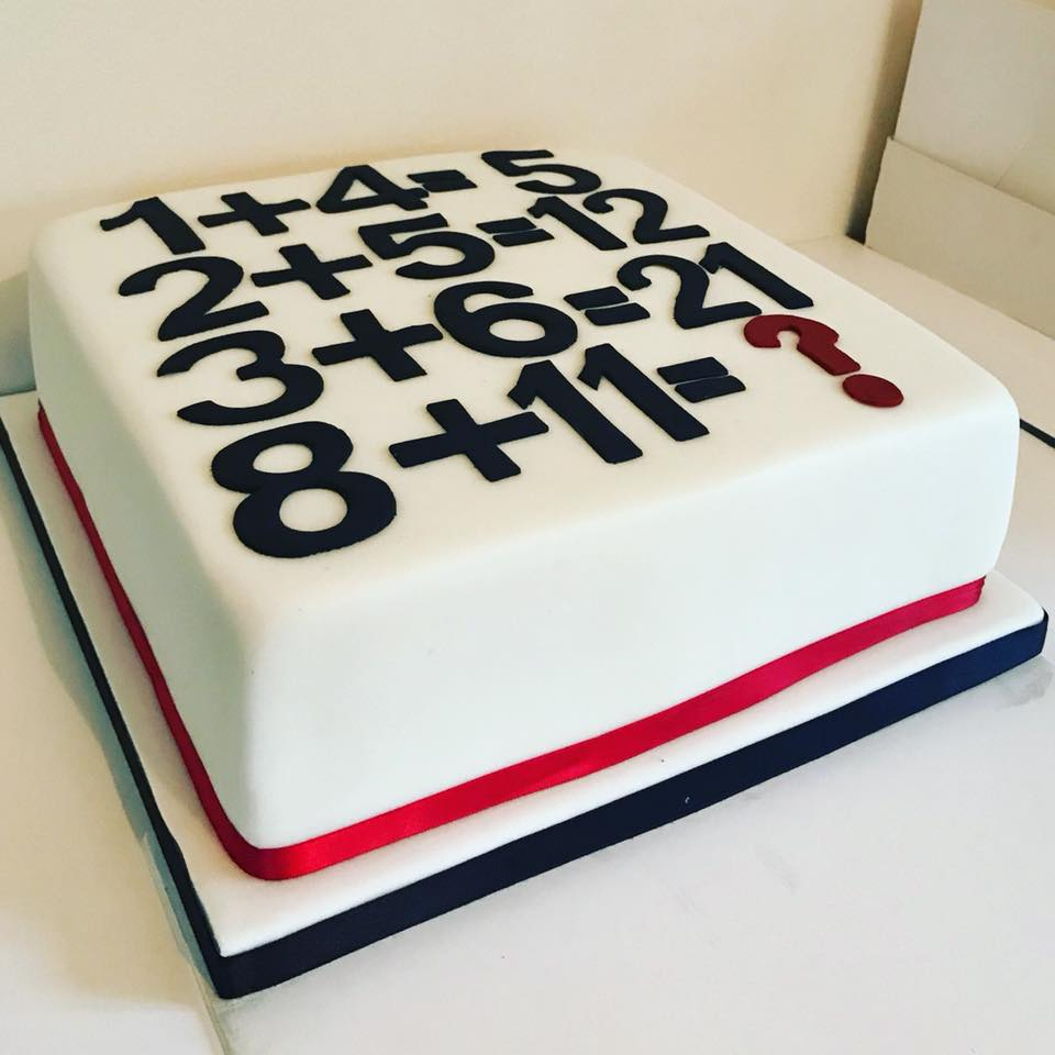 Maths cake….can you work out the answer?!