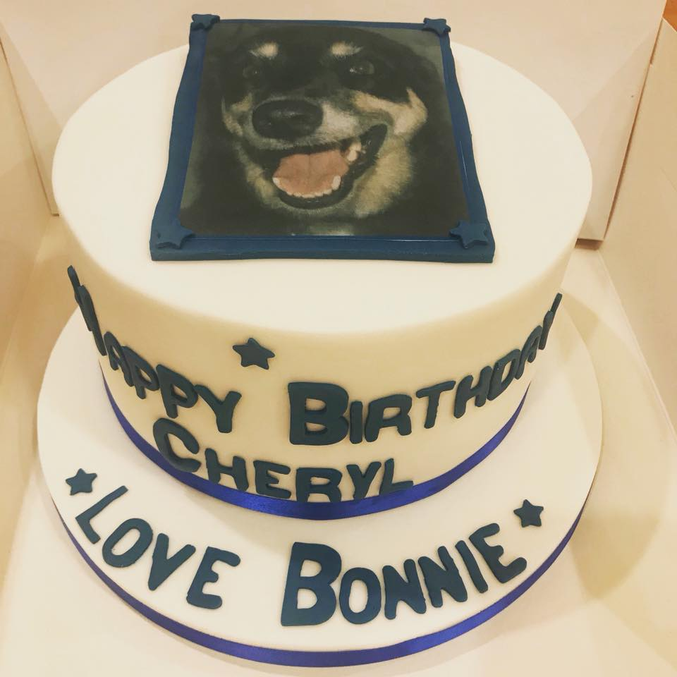 A surprise special cake for Cheryl (ordered all the way from Australia!).