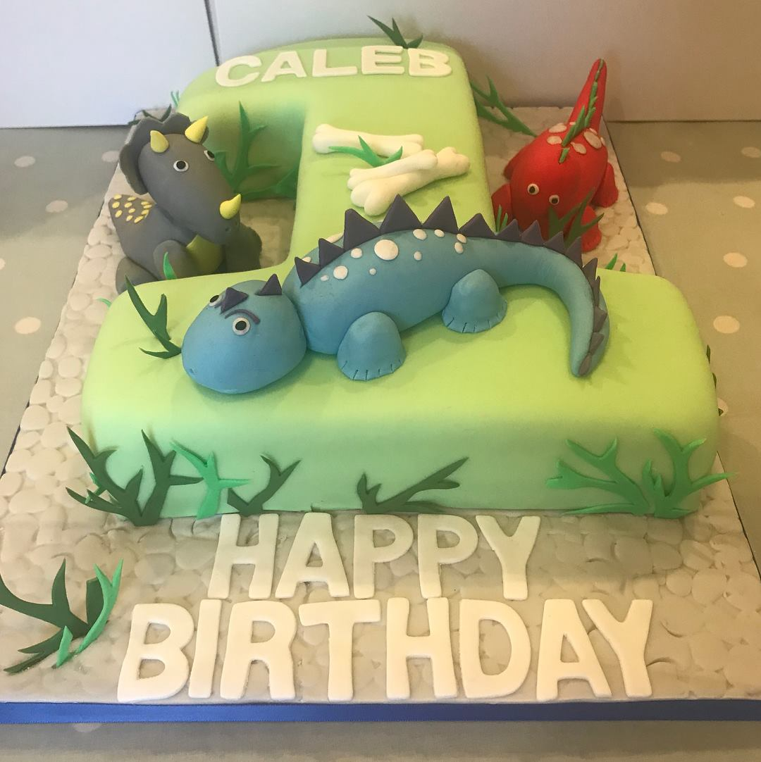1st birthday dinosaur cake!