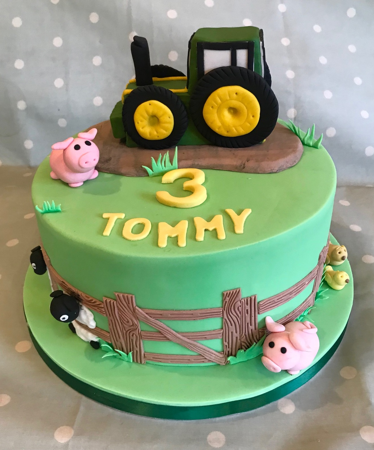 Tractor cake for Tommy, Herefordshire