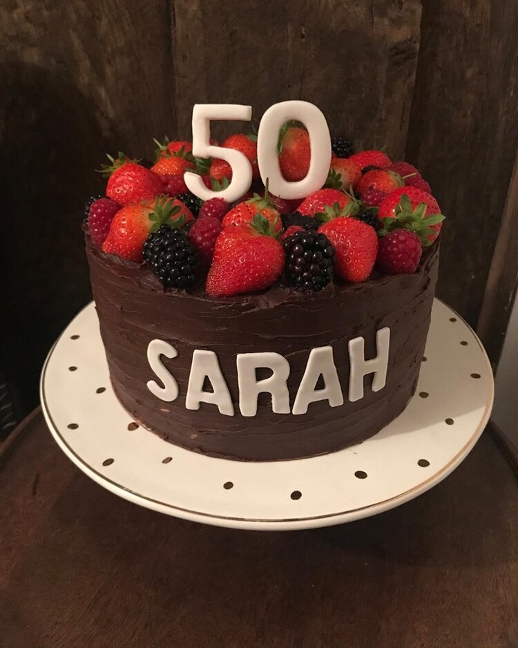 50th celebration chocolate orange cake, Forest of Dean