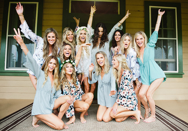 Check out this Tropical Wedding Party  H  ERE  as well as those perfect rompers which range in pricing from Show Me Your Mumu.