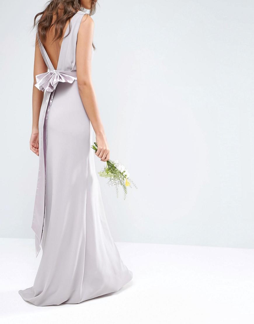 ASOS Sateen Bow Back Maxi Dress $81