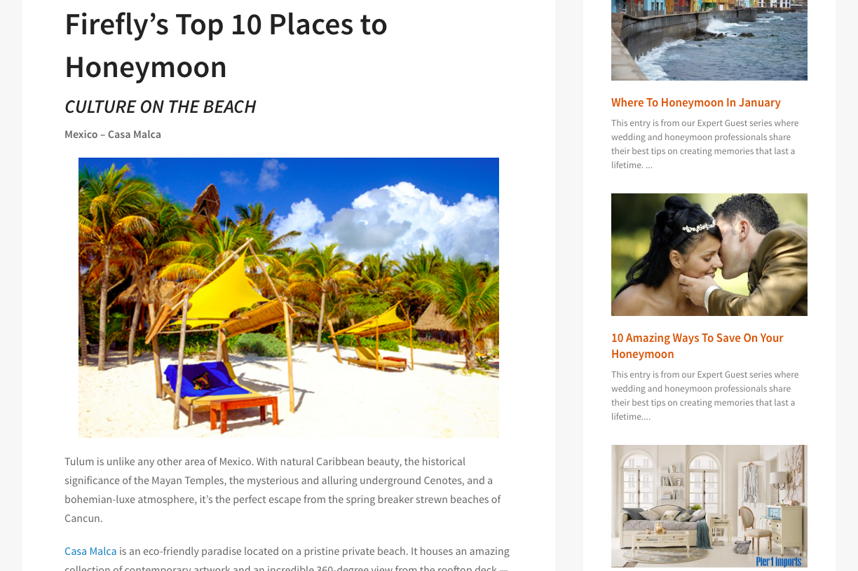 Honey Fund Top 10 Places To Honeymoon