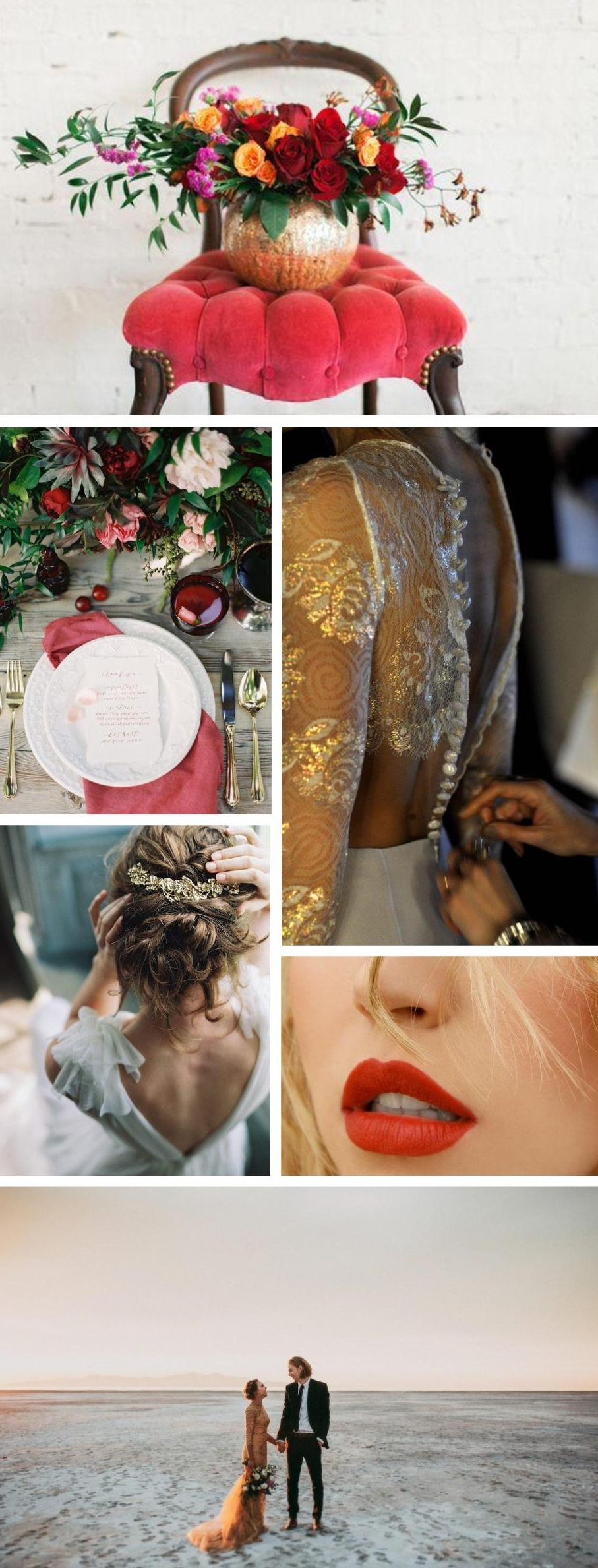 Flowers  // Table Setting  Lani Elias  // Gold dress // Hair with gold  Liv Hart  // Lips  // Couple  India Earl